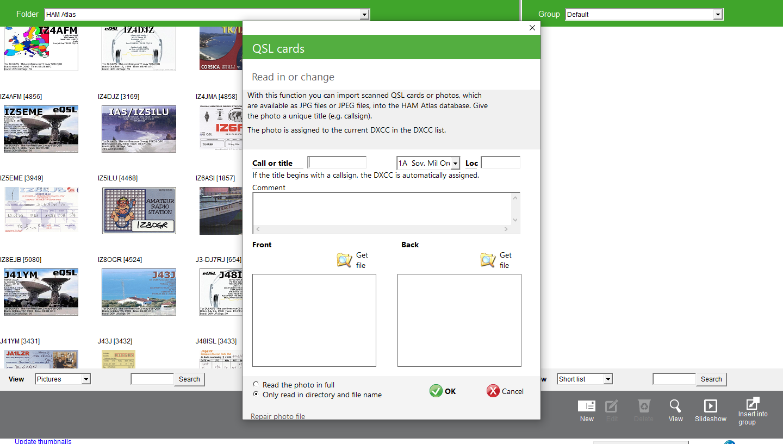 insert new QSL-scans