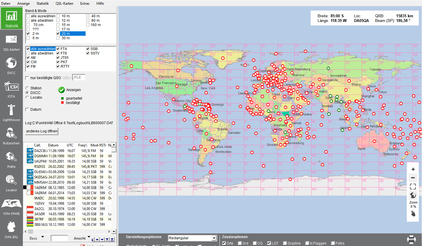 DXCC-Auswertung