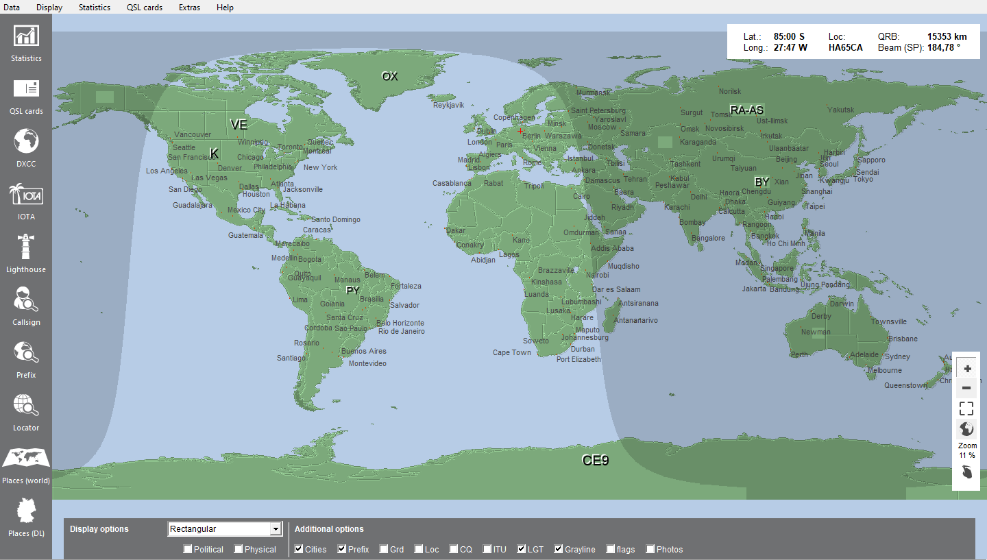 world map with grayline